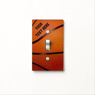 Personalized Basketball Light Switch Cover