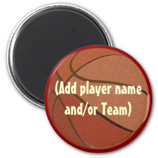 Personalized Basketball Magent 2 Inch Round Magnet