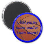 Personalized Basketball Magnet