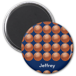Personalized Basketball Magnet, Blue background Magnet
