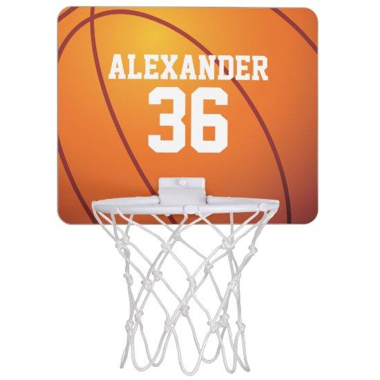 Personalized Basketball Mini Basketball Hoop
