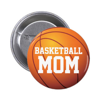 Personalized Basketball Mom Pinback Button