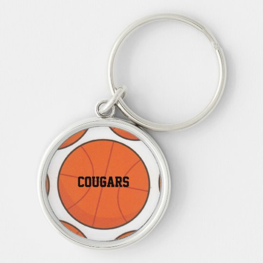 Personalized Basketball Name Keychain