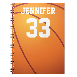 Personalized Basketball Note Books