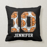 Personalized Basketball Number 10 Pillow