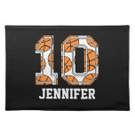 Personalized Basketball Number 10 Place Mat
