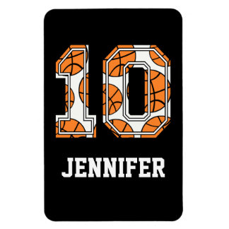 Personalized Basketball Number 10 Flexible Magnet