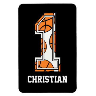 Personalized Basketball Number 1 Magnet