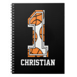 Personalized Basketball Number 1 Note Books