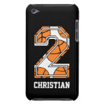 Personalized Basketball Number 2 Barely There iPod Case