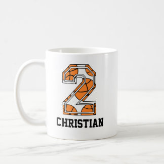 Personalized Basketball Number 2 Coffee Mug