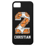 Personalized Basketball Number 2 iPhone 5 Case