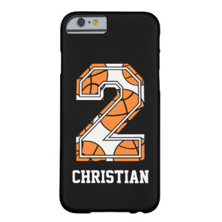 Personalized Basketball Number 2 iPhone 6 Case