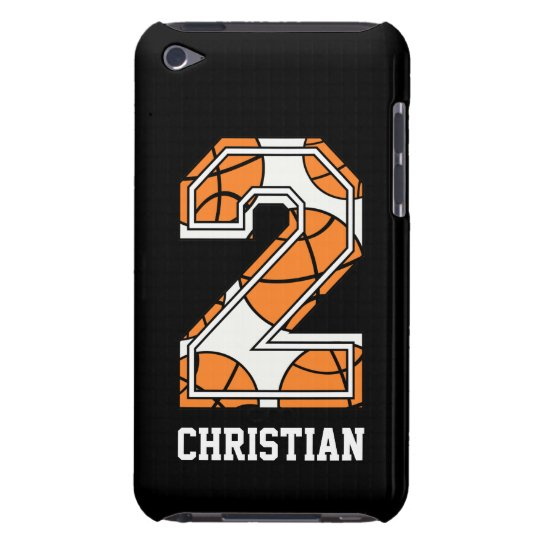 Personalized Basketball Number 2 iPod Touch Cover