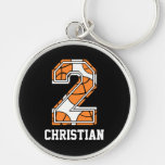 Personalized Basketball Number 2 Keychains