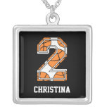 Personalized Basketball Number 2 Pendants