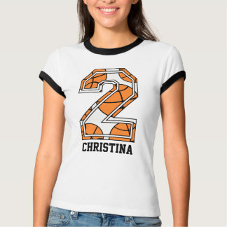 Personalized Basketball Number 2 T-Shirt
