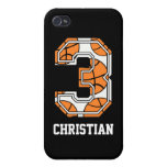 Personalized Basketball Number 3 iPhone 4/4S Cover