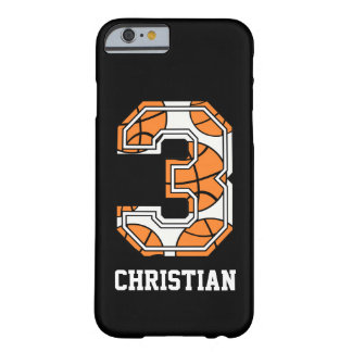 Personalized Basketball Number 3 iPhone 6 Case