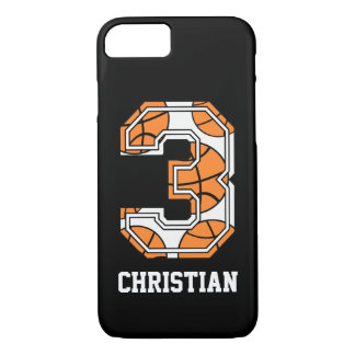 Personalized Basketball Number 3 iPhone 8/7 Case