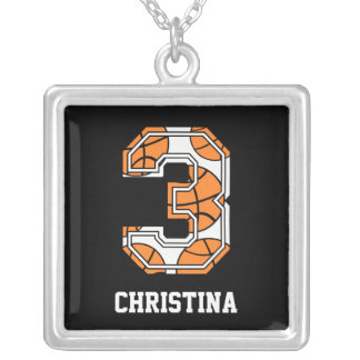 Personalized Basketball Number 3 Pendant