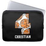 Personalized Basketball Number 4 Computer Sleeves