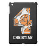 Personalized Basketball Number 4 iPad Mini Cases
