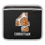 Personalized Basketball Number 4 iPad Sleeve