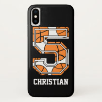 Personalized Basketball Number 5 iPhone XS Case