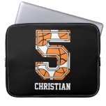 Personalized Basketball Number 5 Laptop Computer Sleeves