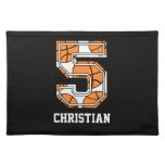 Personalized Basketball Number 5 Placemat