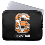Personalized Basketball Number 6 Laptop Computer Sleeves