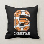 Personalized Basketball Number 6 Pillow