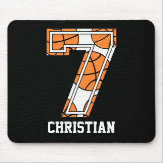 Personalized Basketball Number 7 Mouse Pad
