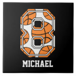 Personalized Basketball Number 8 Ceramic Tiles