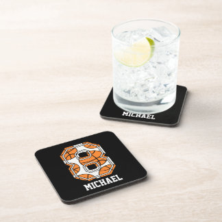Personalized Basketball Number 8 Coaster