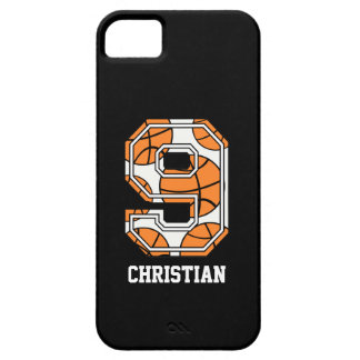 Personalized Basketball Number 9 iPhone 5 Cover