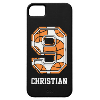 Personalized Basketball Number 9 iPhone 5 Covers