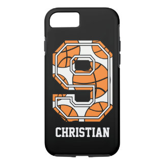 Personalized Basketball Number 9 iPhone 7 Case