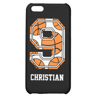 Personalized Basketball Number 9 Cover For iPhone 5C