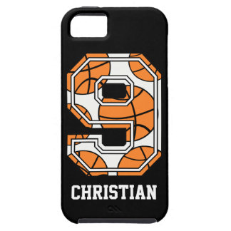 Personalized Basketball Number 9 iPhone SE/5/5s Case