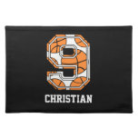 Personalized Basketball Number 9 Place Mats