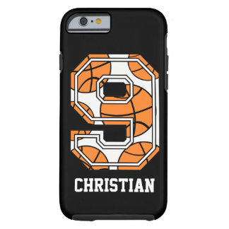 Personalized Basketball Number 9 Tough iPhone 6 Case
