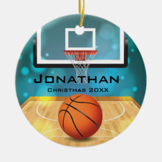 Personalized Basketball Ornament at Zazzle