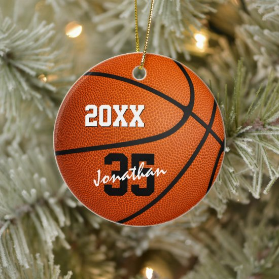 personalized basketball ornament for boys or girls