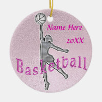 Personalized Basketball Ornaments  YEAR and NAME