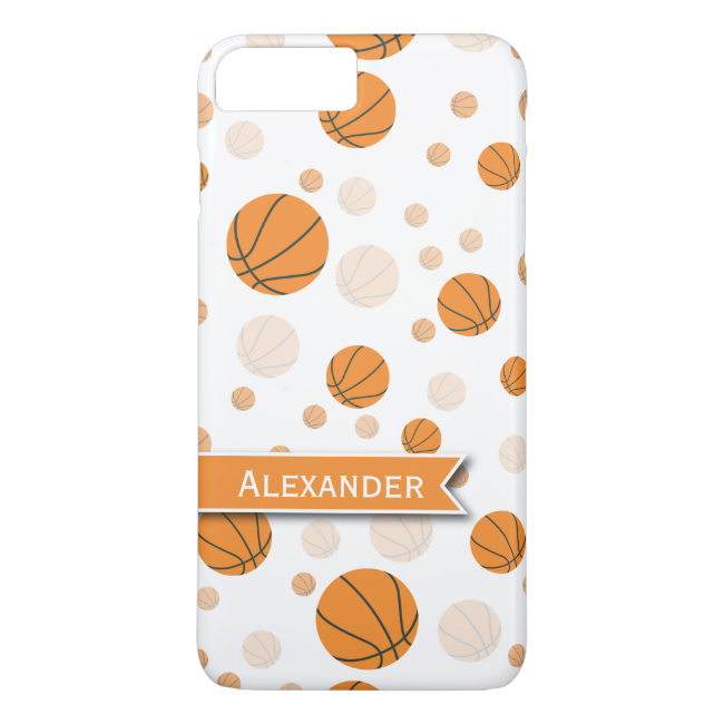 Personalized Basketball Pattern iPhone 7 Plus Case