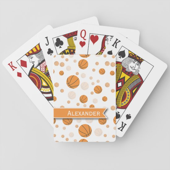 Personalized Basketball Pattern Playing Cards