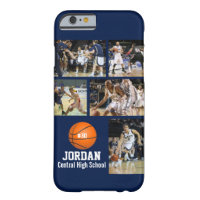 Personalized Basketball Photo Collage Name Team # Barely There iPhone 6 Case