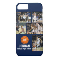 Personalized Basketball Photo Collage Name Team # iPhone 8/7 Case
